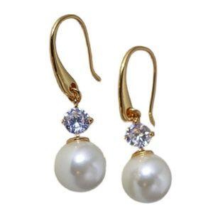 Kate Spade earrings gold  pearl crystal earrings